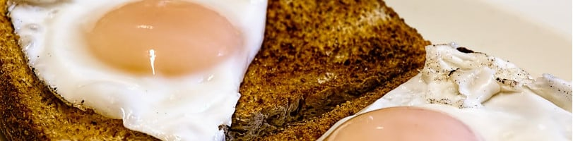 two ingredient snacks egg and toast